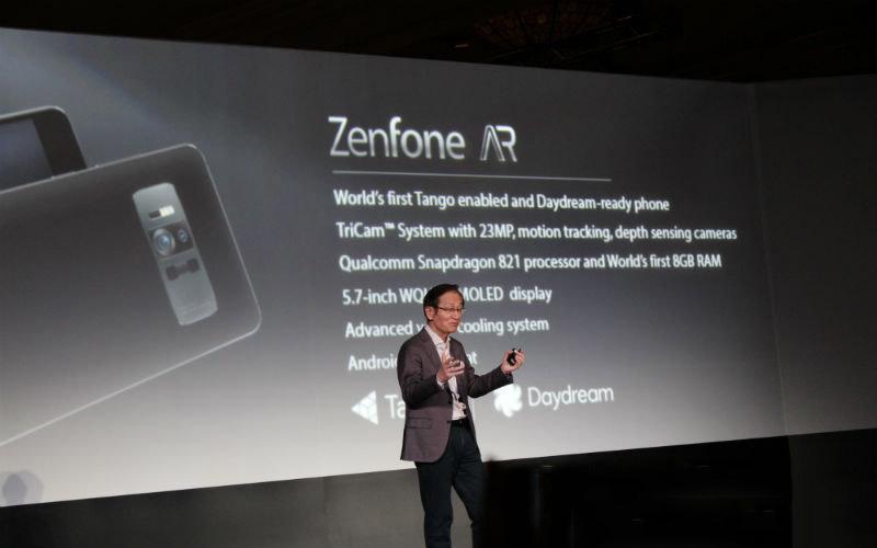 تماشا کنید: موبایل جدید ایسوس Asus Zenfone AR در نمایشگاه CES2017