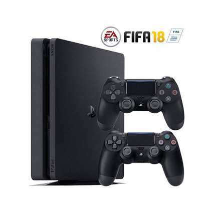 Sony Playstation 4 2116 1TB Slim Region 2 Double Controller FIFA Bundle