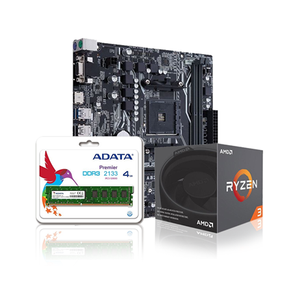 A320M-K / Ram 4GB DDR4 / Ryzen 3 1300X Bundle
