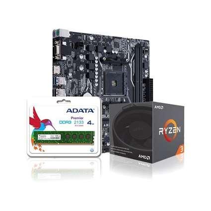 A320M-C / Ram 4GB DDR4 / Ryzen 3 1300X Bundle