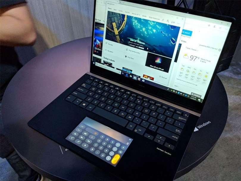 لپ تاپ های جدید ایسوس با نمایشگری به جای پد لمسی