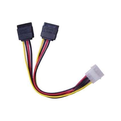 Double SATA to Molex Cable