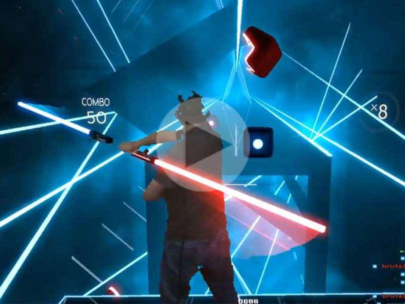 تماشا کنید: Beat Saber جذاب ترین بازی VR !