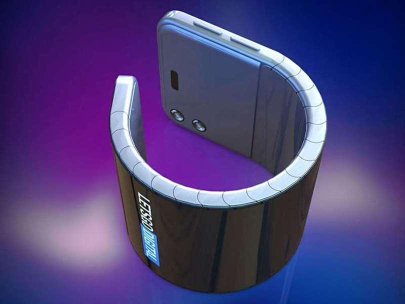 این پتنت سامسونگ یک گوشی تبدیل شونده به دستبند را نشان میدهد