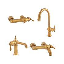 Venezia Milan Matt Gold Set Faucets