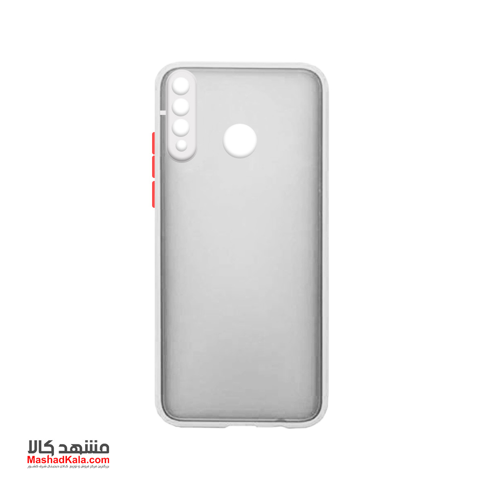 Matte Cover With Camera Lens Protector For Huawei Y6P 2020